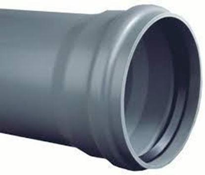 Afbeeldingen van PVC BUIS - 3 m x 125 mm - MOF