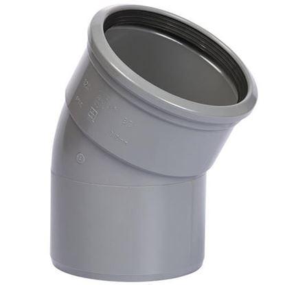 Afbeeldingen van PVC bocht D.125 - 30° - M/S
