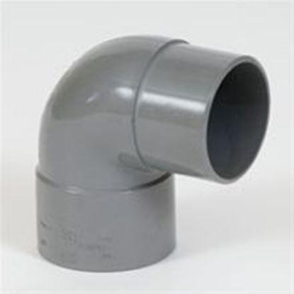 Afbeeldingen van PVC bocht D.125 - 88° - M/S