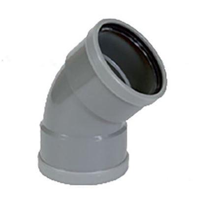 Afbeeldingen van PVC bocht D.125 - 45° - M/M