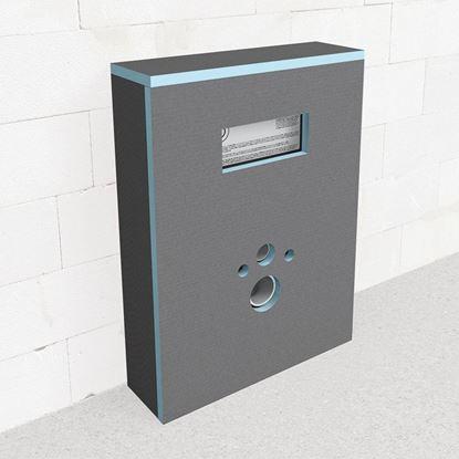 Afbeeldingen van Wedi I-board 1245x1200x20 mm voorgeboorde sanitair wandplaat