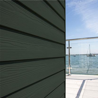 Image de Eternit sidings classic wood C31 Engels groen - 3.6 x 0.2 m  --- UITVERKOOP ---