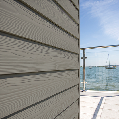 Image de Eternit sidings classic wood C56 Metaal grijs - 3.6 x 0.2 m