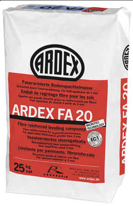 Image de Ardex FA 20 vloeregalisatie 25 kg binnen vezelversterkt